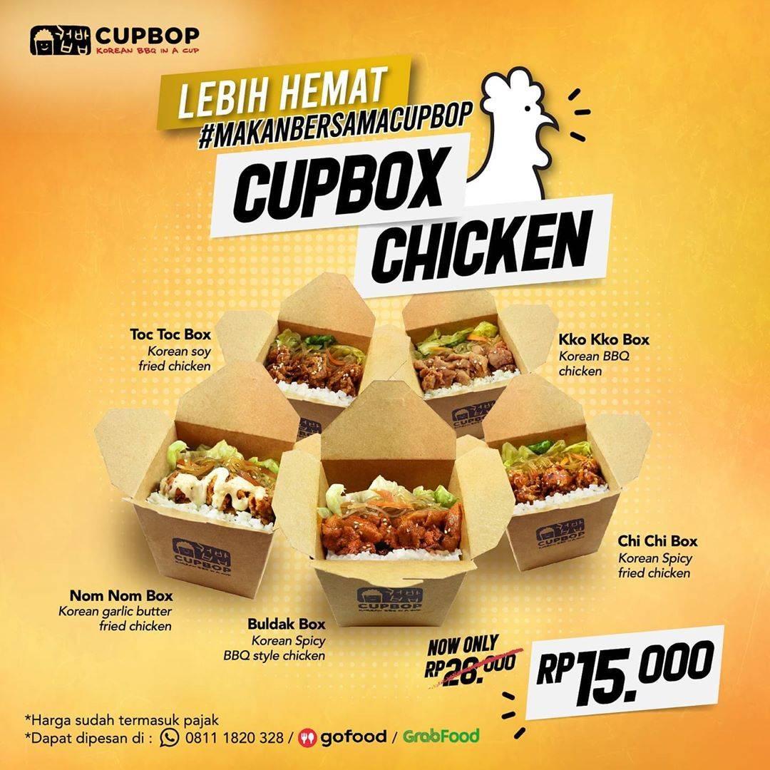 Diskon Cup Bop Promo Lebih Hemat Makan Bersama CupBob Dengan CupBox Chicken Cuma Rp. 15.000