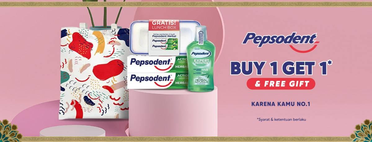 Diskon Blibli.com Promo Buy 1 Get 1 Free + Free Gift Produk Pepsodent