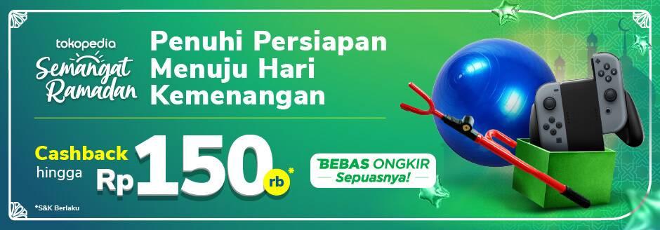 Diskon Tokopedia Promo Cashback Hingga Rp. 150.000 Untuk Produk Otomotif, Olahraga & Hobi