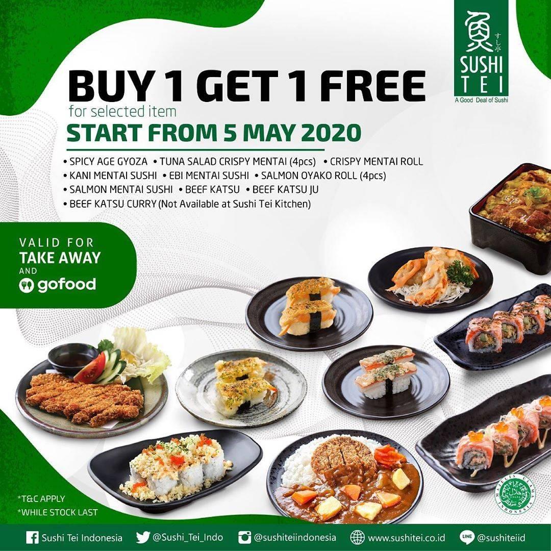 Diskon Sushi Tei Promo Beli 1 Gratis 1 Menu Favorit Untuk Pemesanan Melalui GoFood/TakeAway
