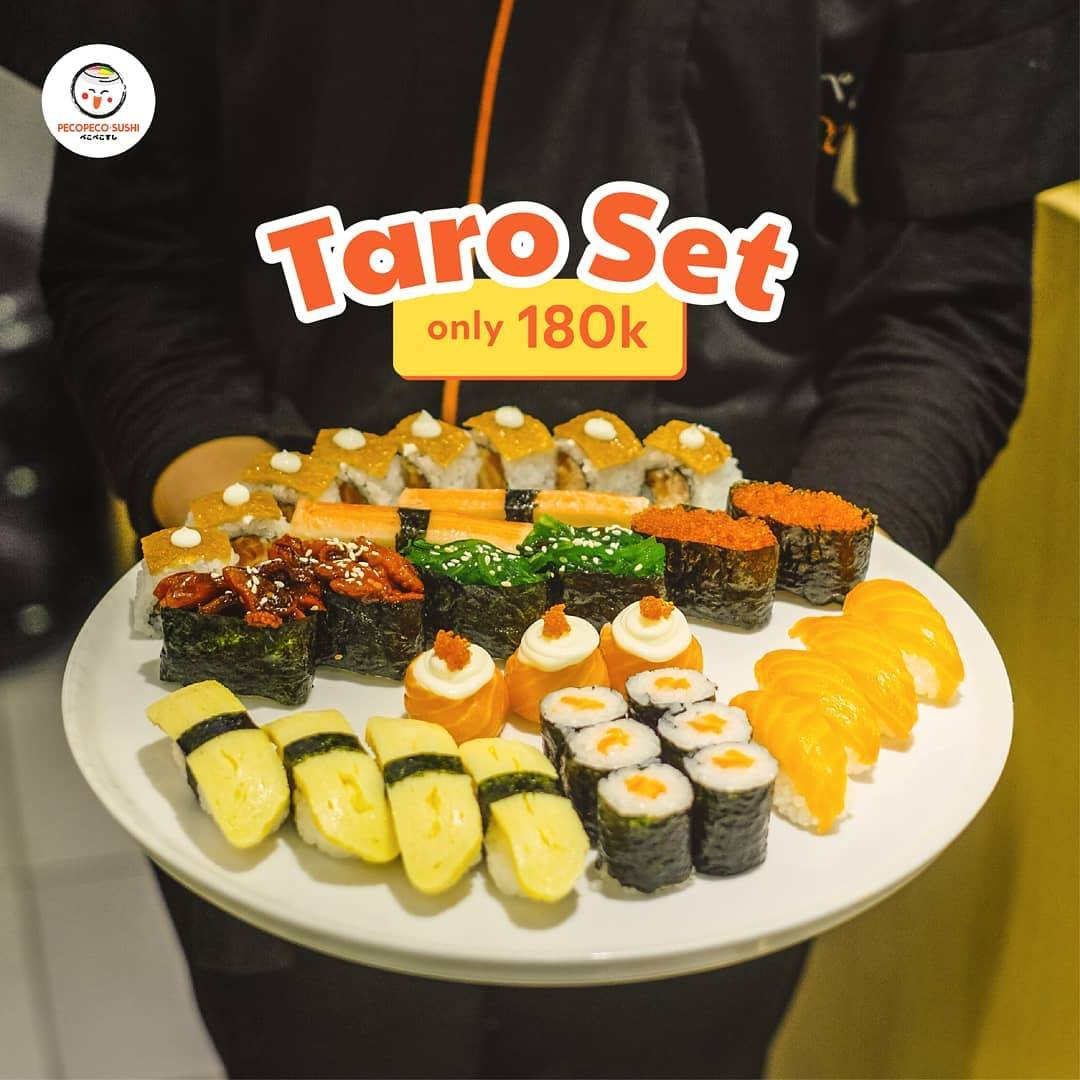 Diskon Peco Peco Sushi Promo Taro Set Cuma Rp. 180.000