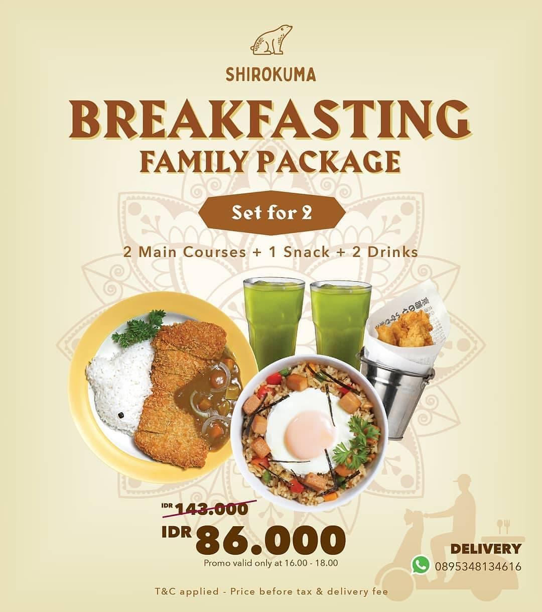 Diskon Shirokuma Promo Breakfasting Family Package Dengan Harga Mulai Rp. 86.000