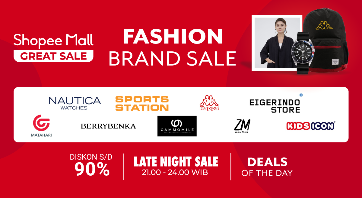 Diskon Shopee Promo Fashion Brand Sale Dapatkan Diskon Hingga 90% Untuk Brand/Store Favorit