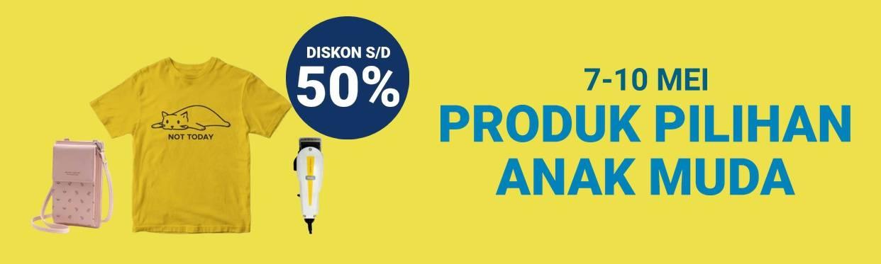 Diskon Shopee Promo Diskon Hingga 50% Untuk Produk Pilihan Anak Muda