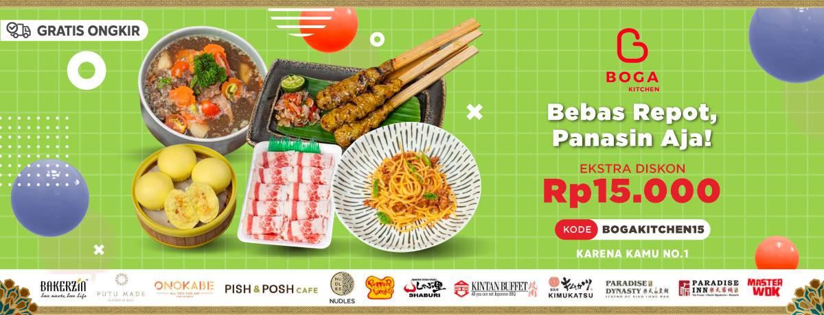 Diskon Blibli.com Promo Ekstra Diskon Rp. 15.000 Untuk Pemesanan Menu Dari Boga Kitchen