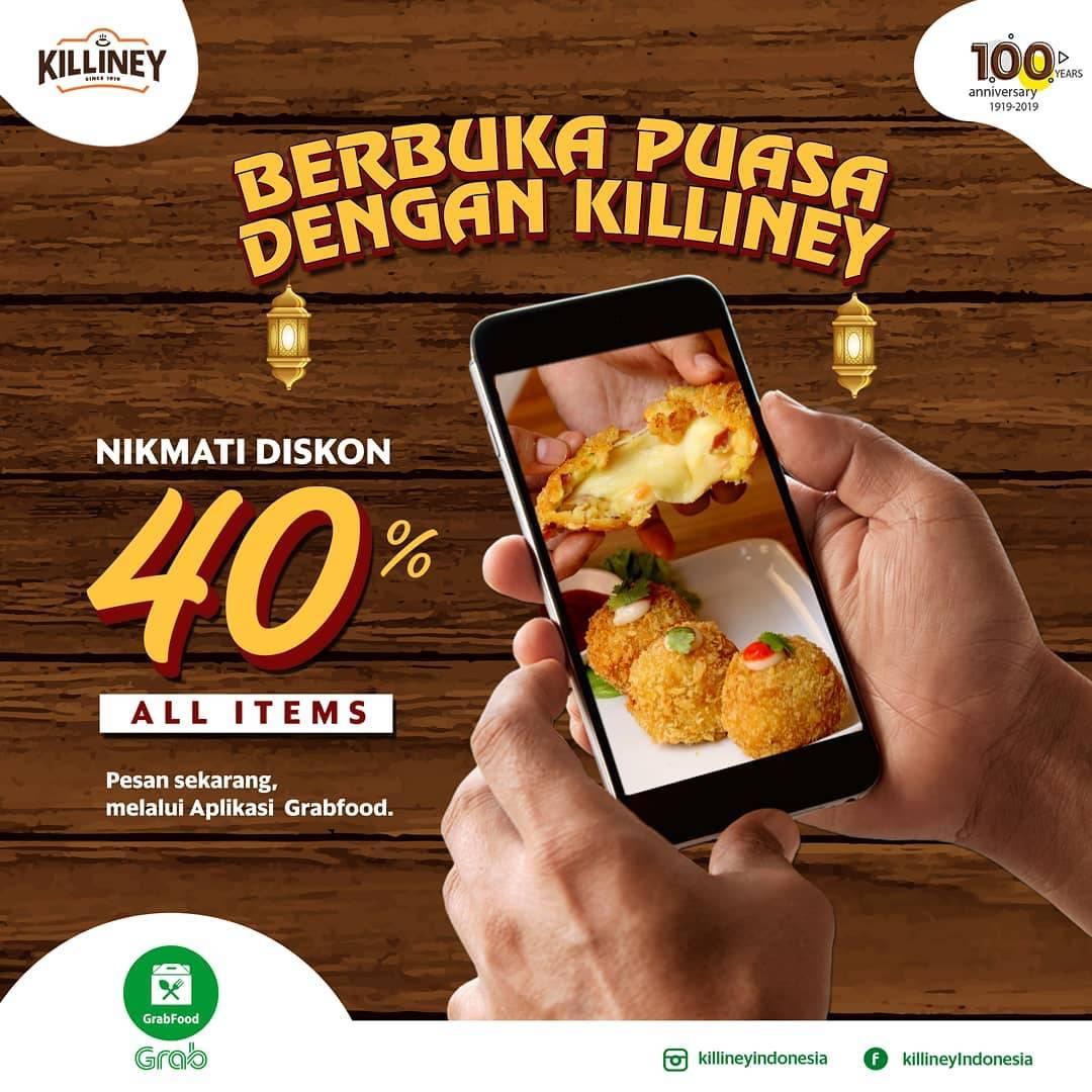 Diskon Killiney Promo Diskon 40% Untuk Semua Menu Untuk Pemesanan Melalui GrabFood