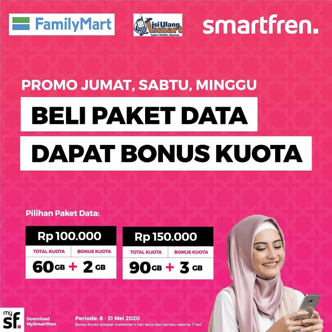 Diskon FamilyMart Promo Beli Paket Data Dapat Bonus Kuota Smartfren