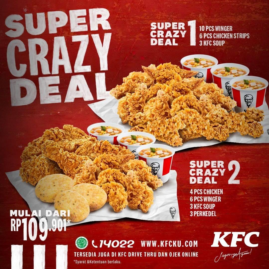 Diskon KFC Promo Paket Super Crazy Deal Dengan Harga Mulai Dari Rp. 109.901