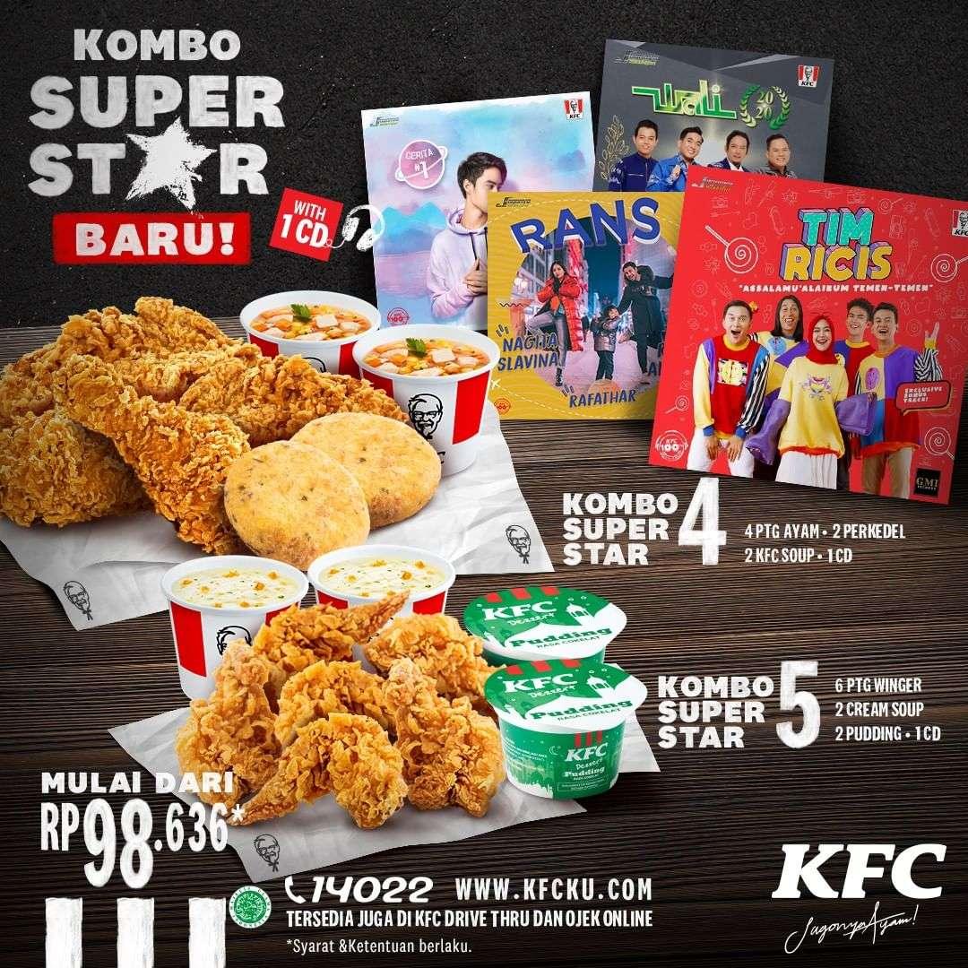Diskon KFC Promo Kombo Super Star Dengan Harga Mulai Dari Rp. 98.636