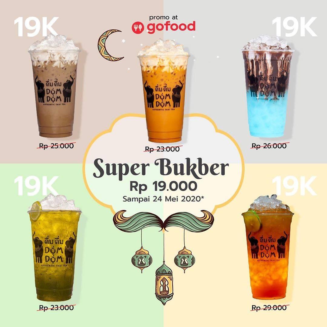 Diskon Dum Dum Thai Tea Promo Menu Super Bukber Cuma Rp. 19.000 Untuk Pemesanan Melalui GoFood