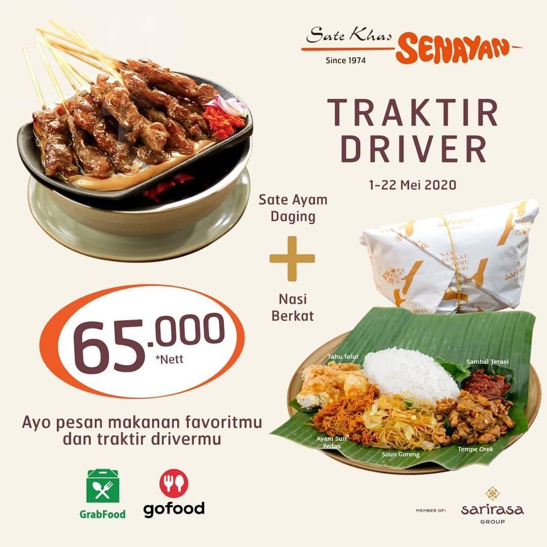 Diskon Sate Khas Senayan Promo Paket Traktir Driver Cuma Rp. 65.000