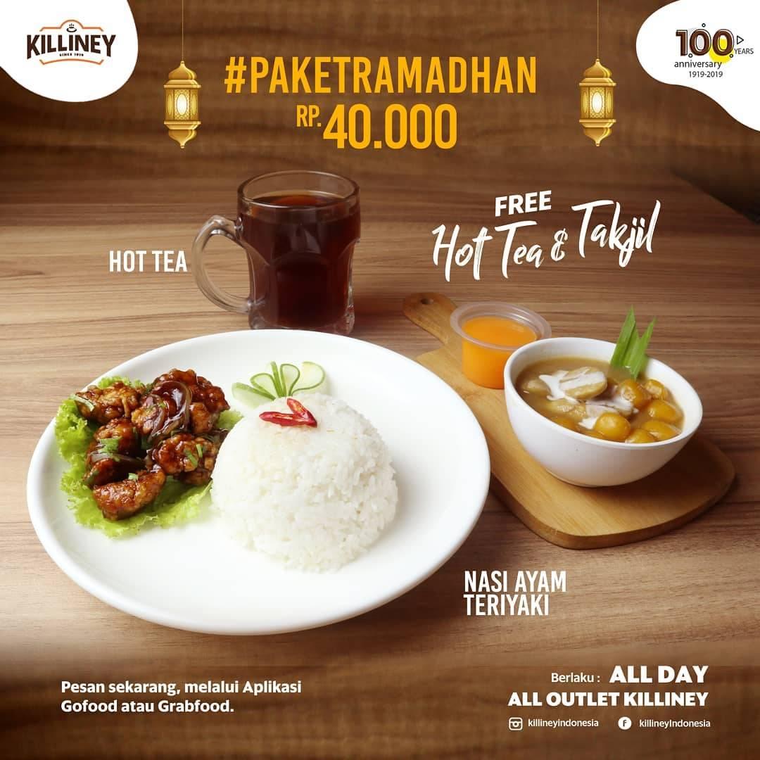Diskon Killiney Promo Paket Ramadhan Cuma Rp. 40.000 + Gratis Teh Hangat & Takjil