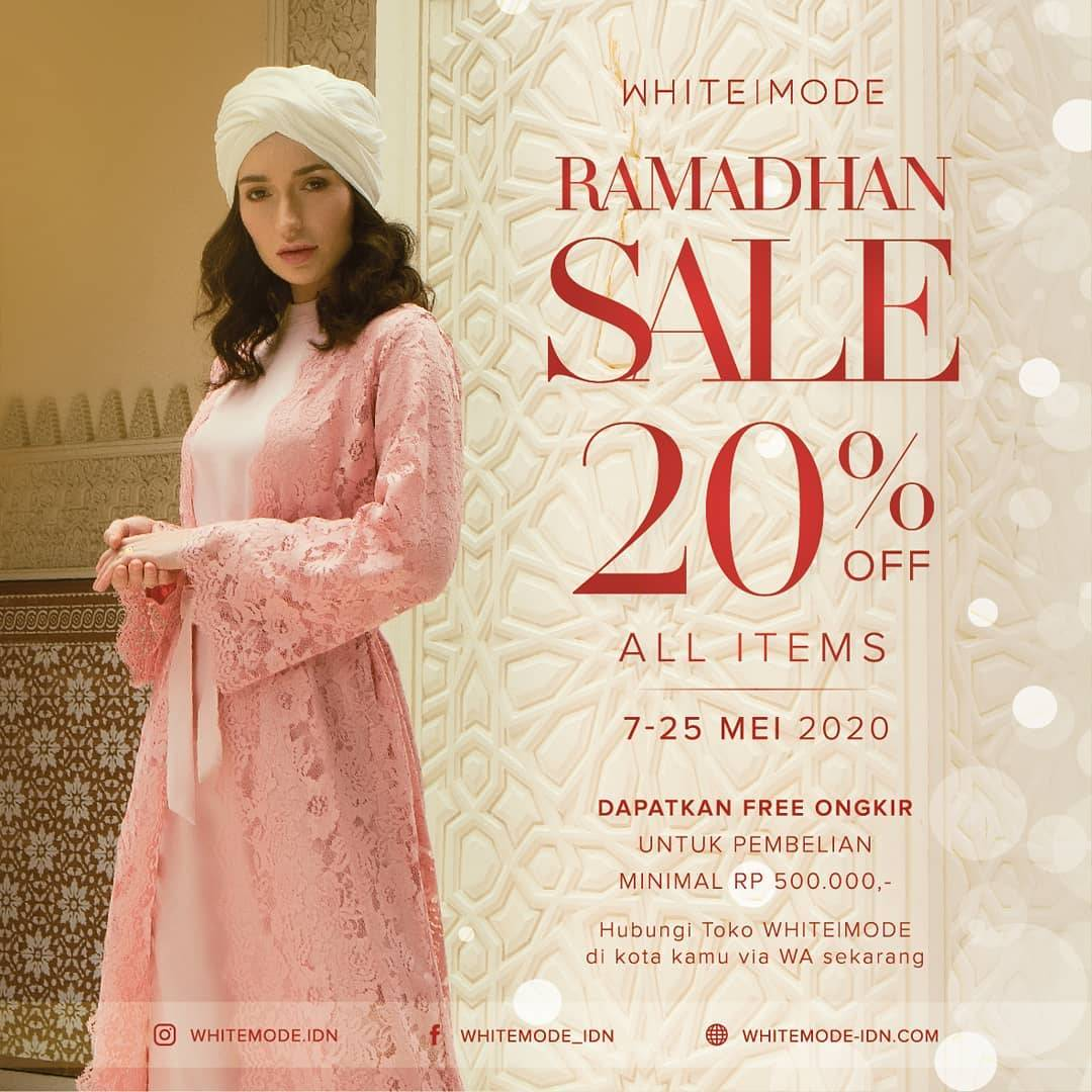 Diskon White Mode Prom Ramadhan Sale 20% Off For All Items
