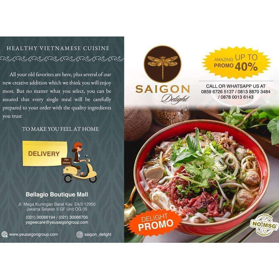 Diskon Saigon Delight Promo Discount Up To 40% Off