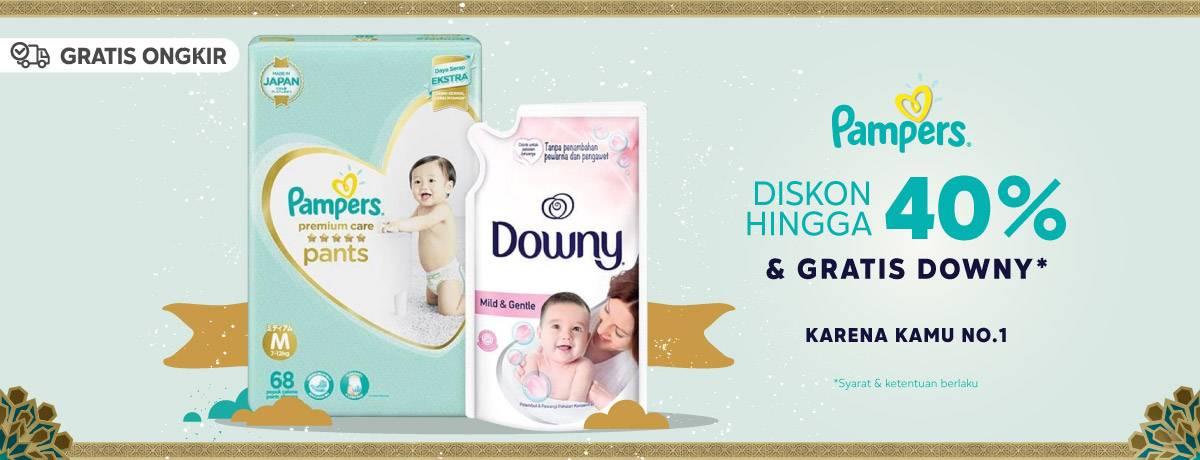 Diskon Blibli.com Promo Diskon Hingga 40% Untuk Produk Pampers + Gratis Downy