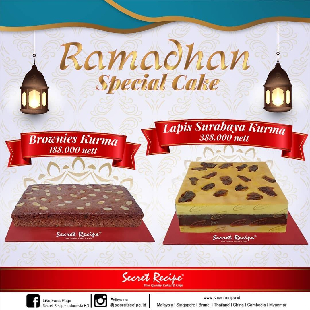 Diskon Secret Recipe Promo Ramadhan Special Sale For Seasonal Cakes Start From IDR 188.000
