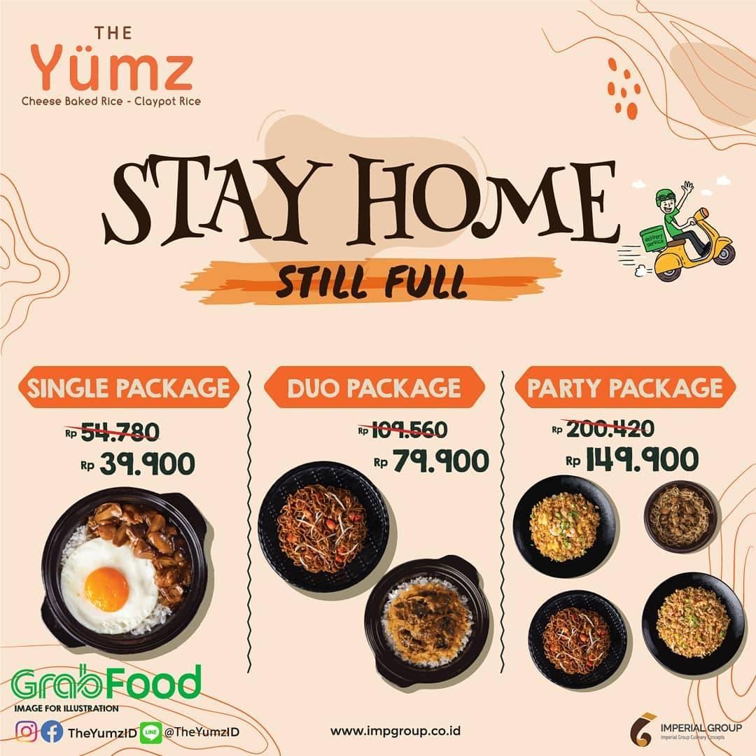 Diskon The Yumz Promo Stay Home Still Full Lewat GrabFood Dengan Harga Mulai Dari Rp. 39.900