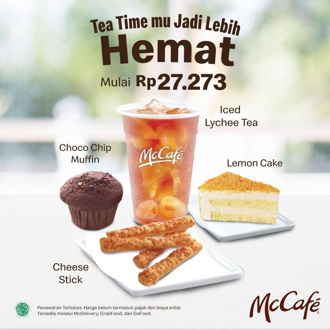 Diskon McCafe Promo Paket Lychee Tea + Pastry atau Cake Favorit Dengan Harga Mulai Dari Rp. 27.273