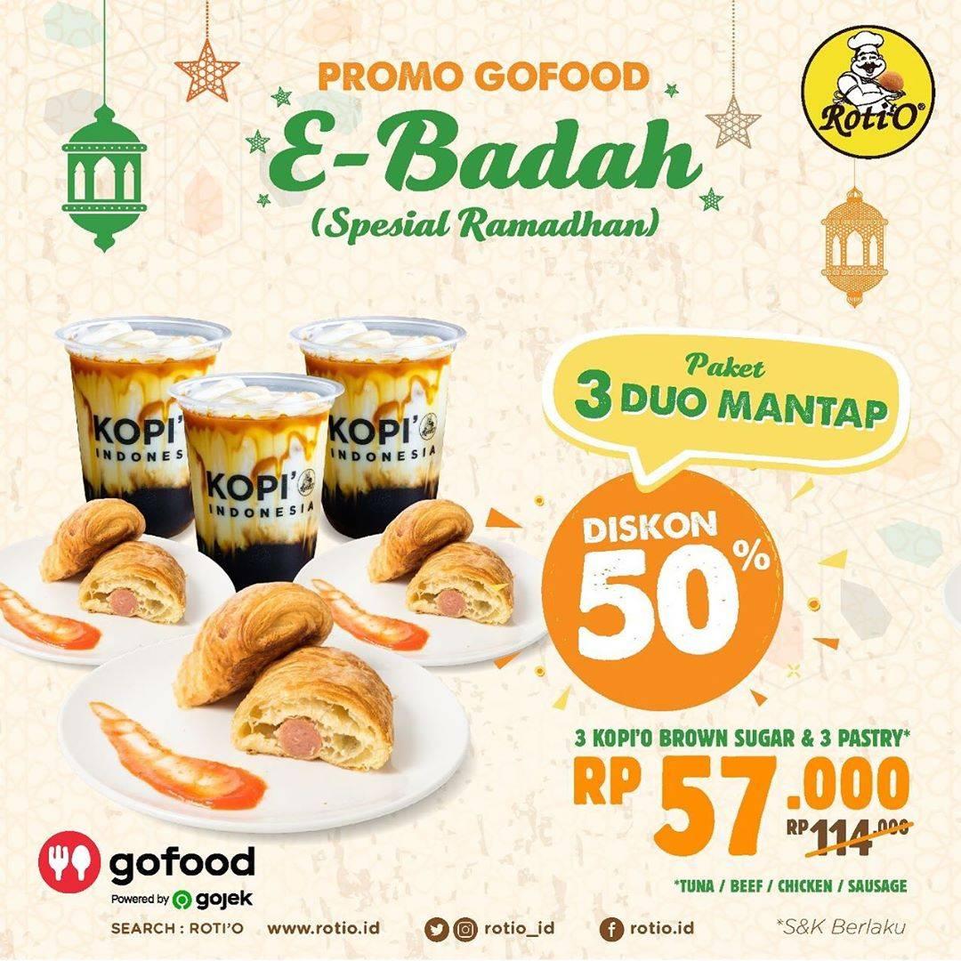 Diskon Roti'O Promo E-Badah Dapatkan Diskon 50% Atau Buy 1 Get 1 Free Untuk Pemesanan Via GoFood