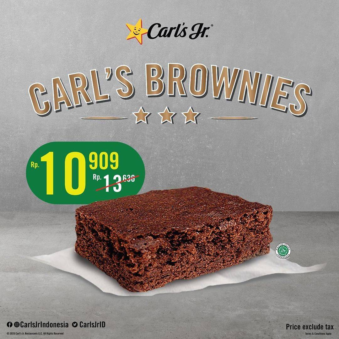 Diskon Carls Jr Promo Special Value Carls Brownies Only For Rp. 10.909