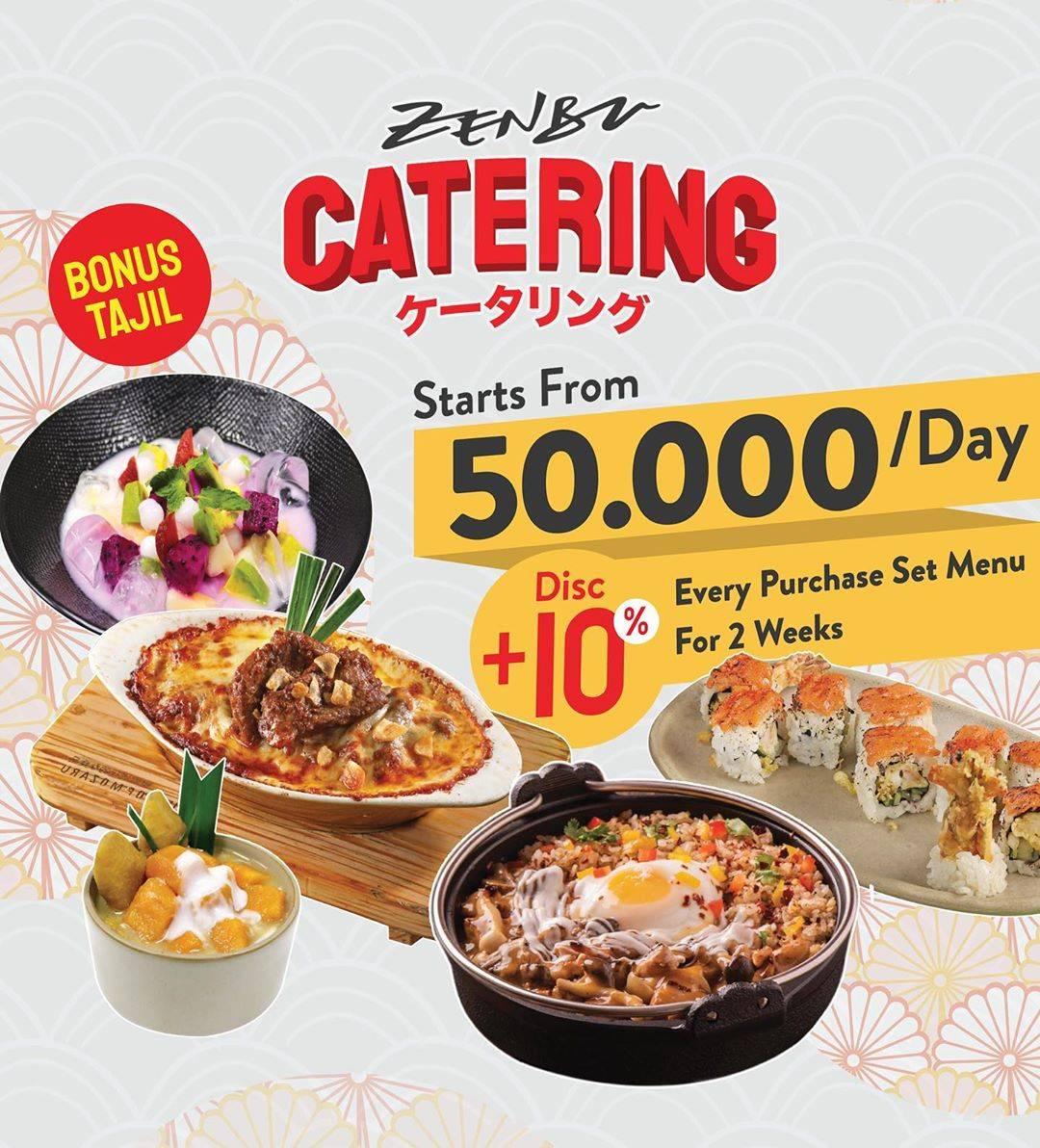 Diskon Zenbu Promo Catering Dengan Harga Rp. 50.000/Hari