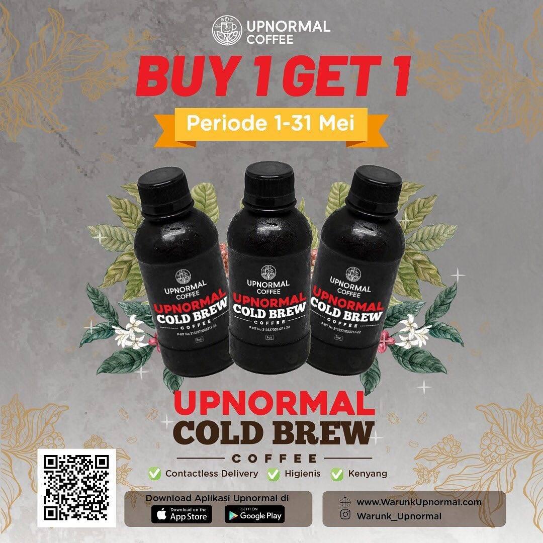 Diskon Warunk Upnormal Promo Buy 1 Get 1 Free Upnormal Cold Brew Coffee