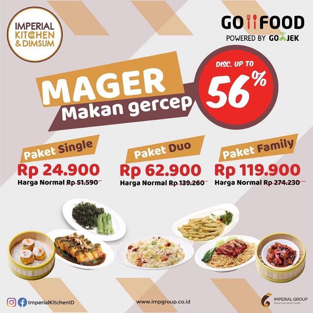 Diskon Imperial Kitchen & Dimsum Promo Mager Dapatkan Diskon Hingga 56% Untuk Pemesanan Via GoFood