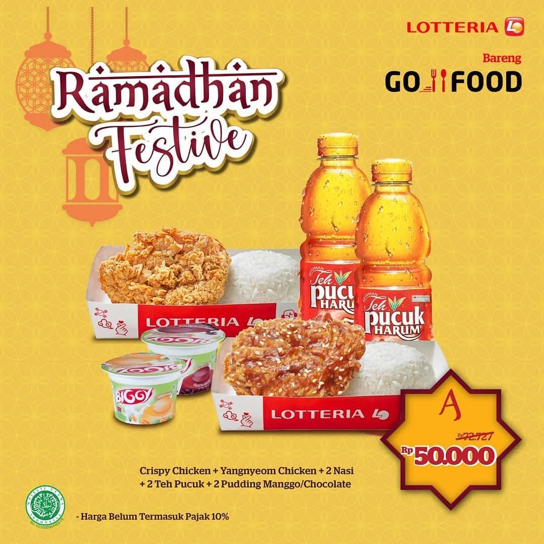 Diskon Lotteria Promo Ramadhan Festive Dengan Harga Mulai Dari Rp. 50.000 Untuk Pemesanan Via GoFood