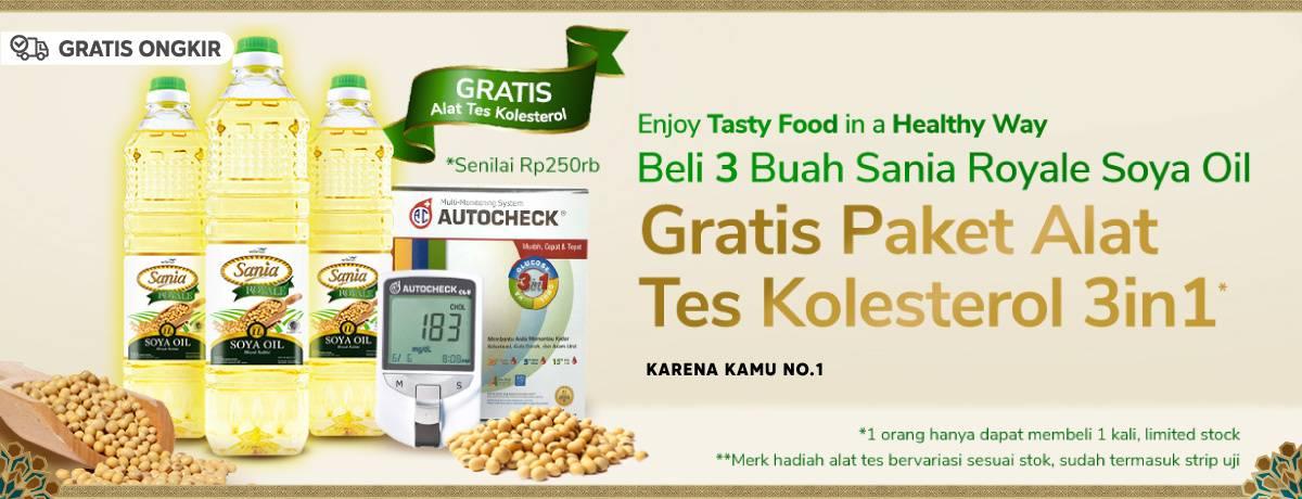 Diskon Blibli Promo Beli 3 Royale Soya Oil Gratis Paket Alat Tes Kolesterol 3 in 1