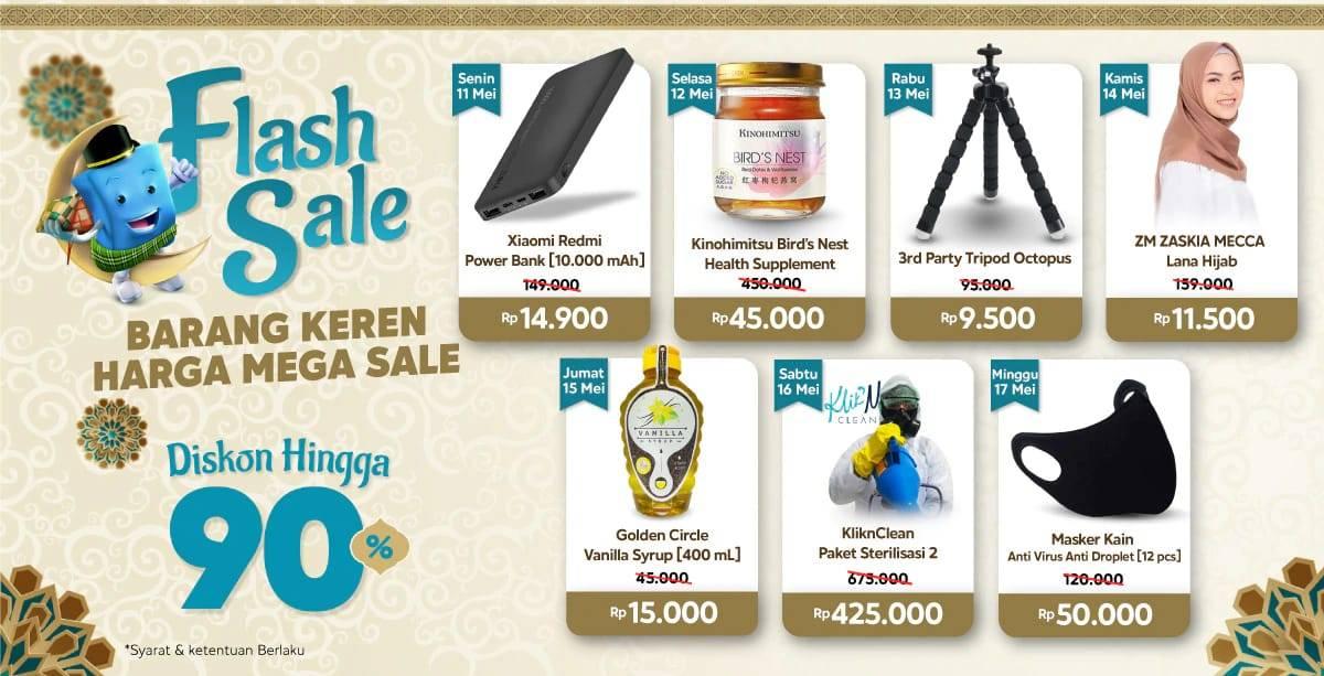 Diskon Blibli Promo Flash Sale 11-17 May 2020 Dapatkan Diskon Hingga 90%