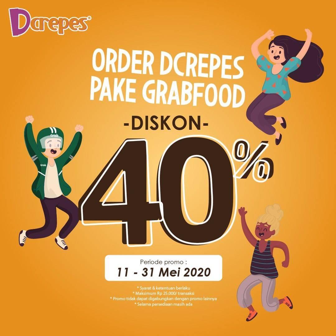 Diskon Dcrepes Promo Diskon 40% Untuk Pemesanan Via GrabFood