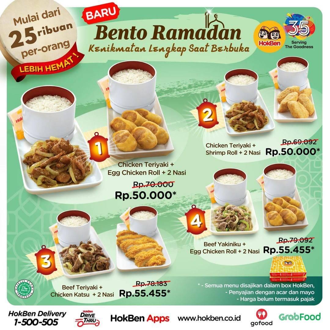 Diskon Hokben Promo Bento Ramadhan Dengan Harga Mulai Dari Rp. 50.000