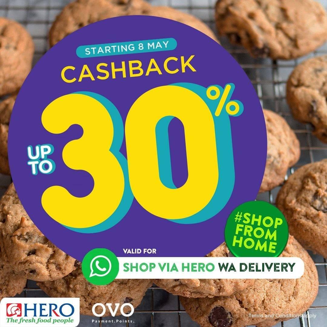 Diskon Hero Supermarket Promo Cashback 30% For Payments Via OVO