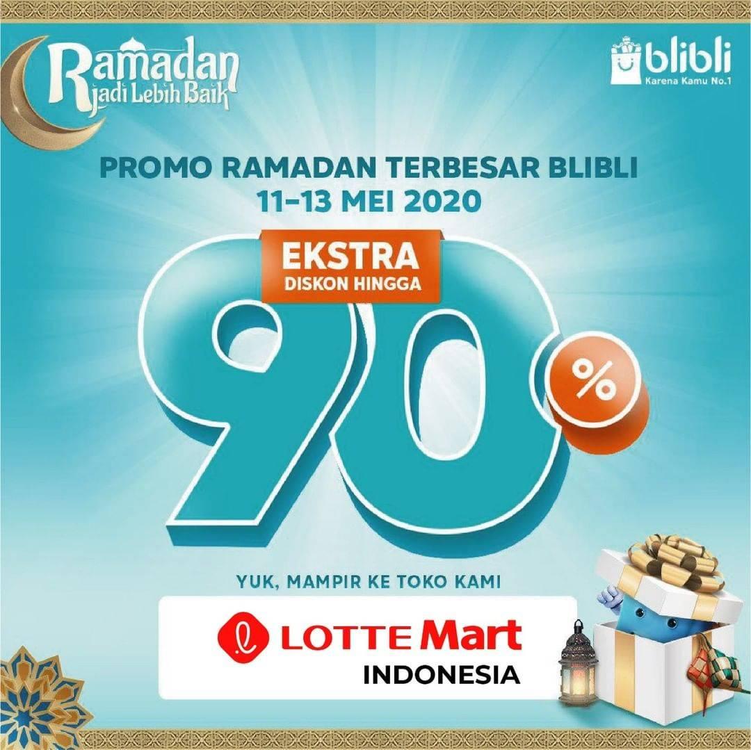 Diskon LotteMart Promo Ekstra Diskon Hingga 90%  Di Official Store LotteMart Blibli