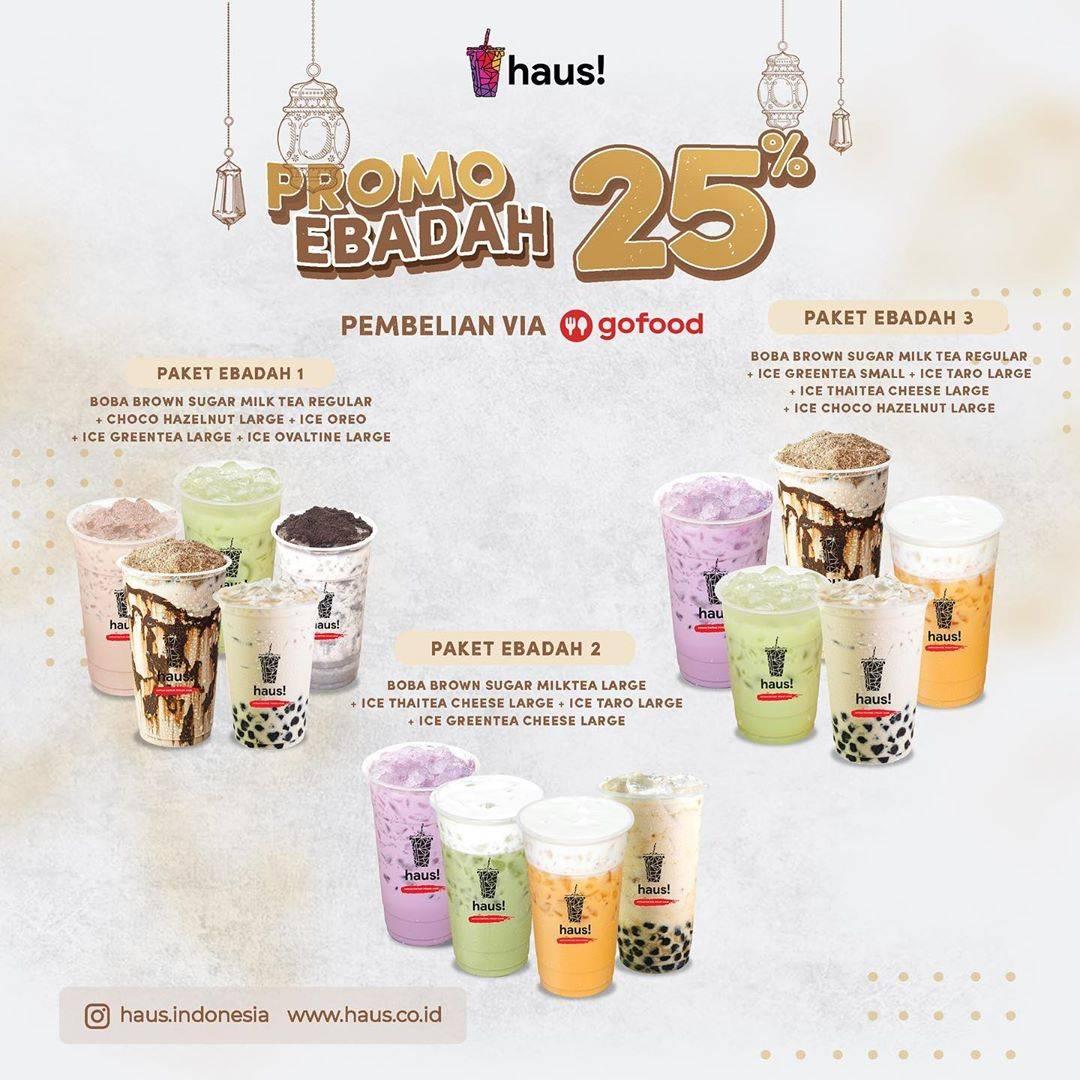 Diskon Haus! Indonesia Promo Ebadah Dapatkan Diskon 25% Untuk Pembelian Via GoFood