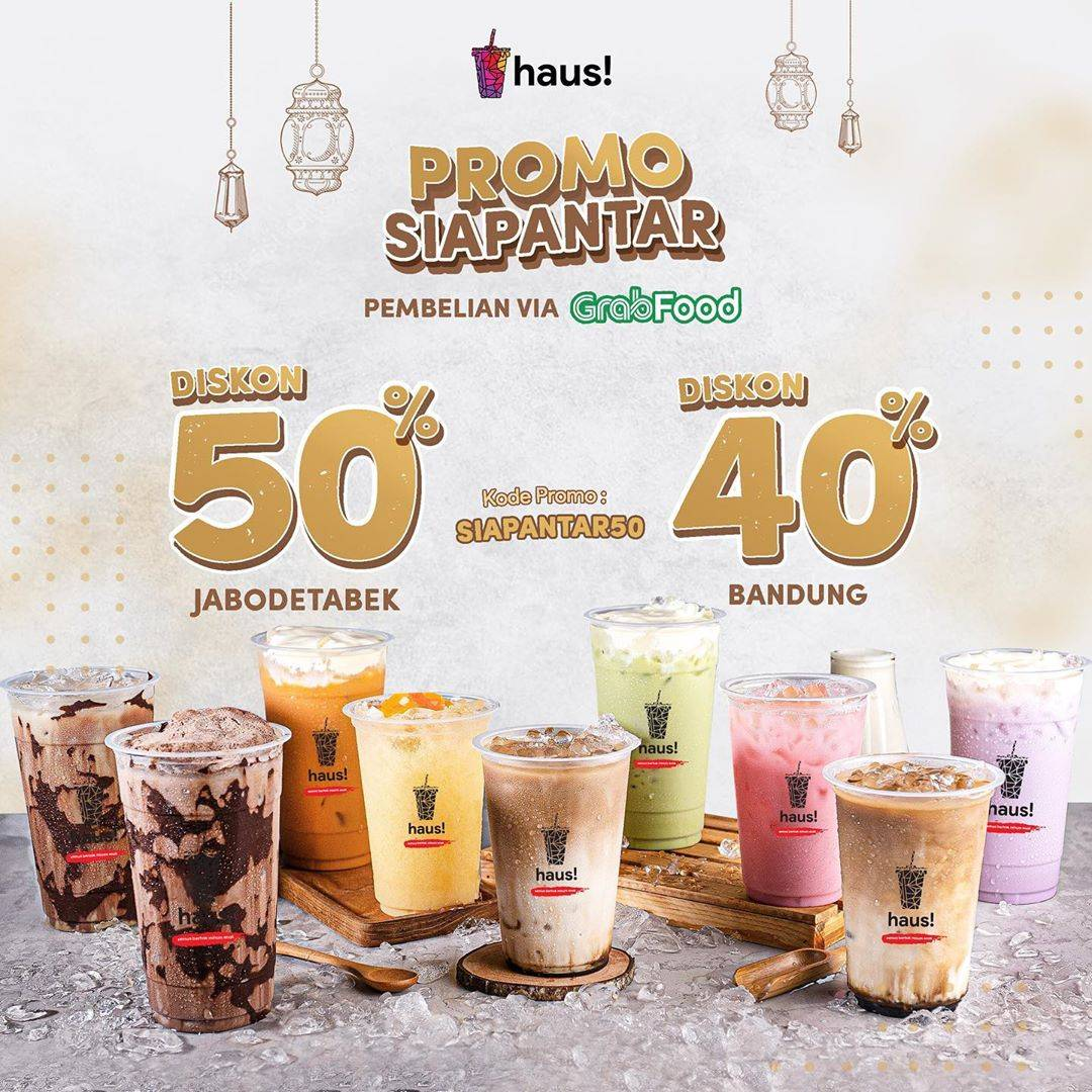 Diskon Haus! Indonesia Promo Diskon 50% dan 40% Untuk Pemesanan Via GrabFood