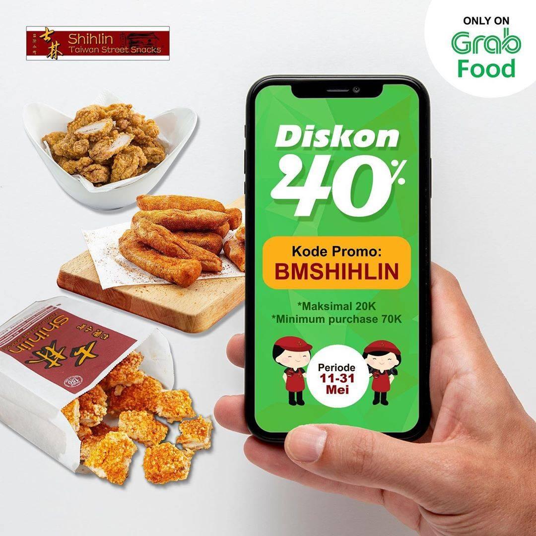 Diskon Shihlin Promo Diskon 40% Untuk Pemesanan Via GrabFood