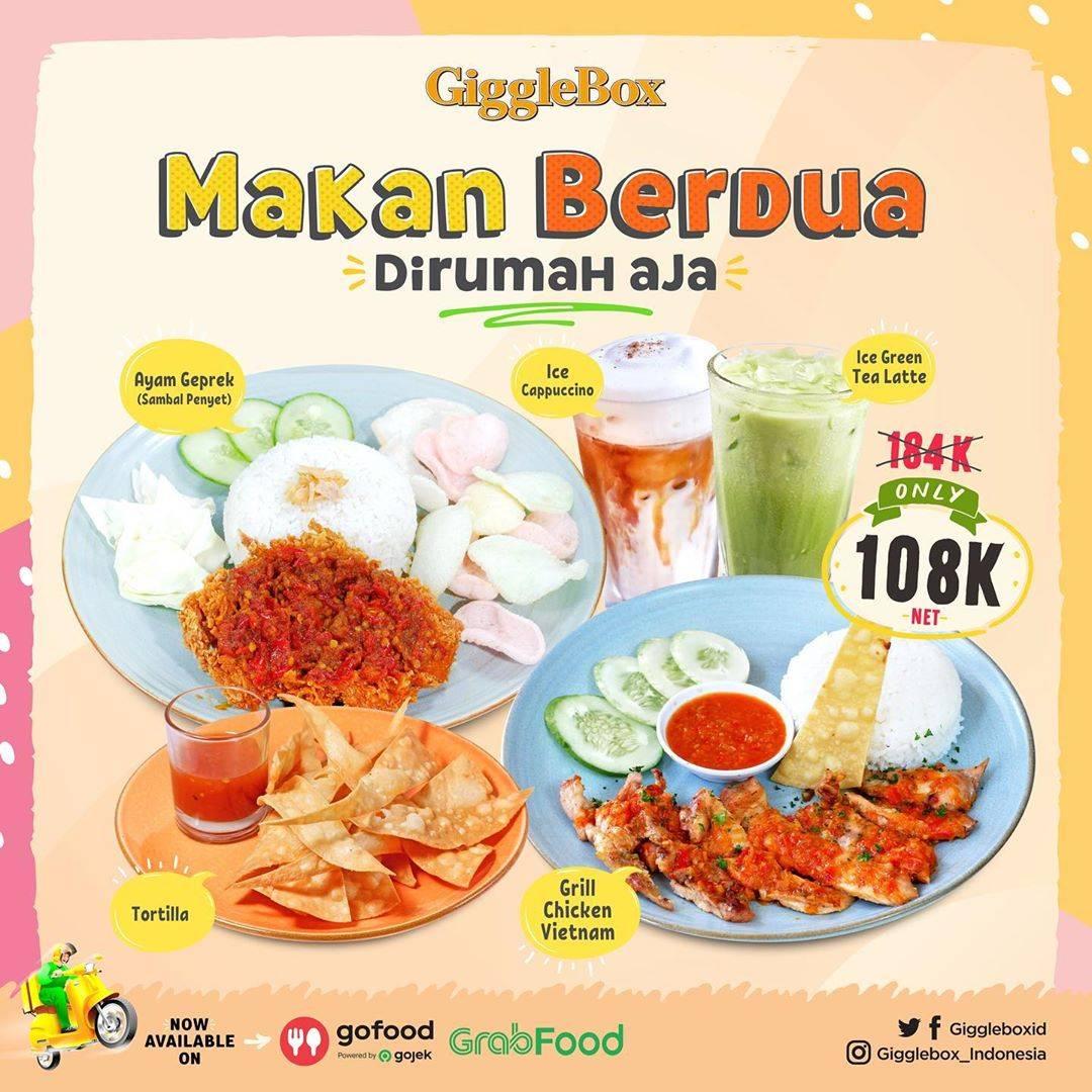Diskon Giggle Box Promo Paket Makan Berdua Di Rumah Aja Dengan Harga Mulai Dari Rp. 127.000
