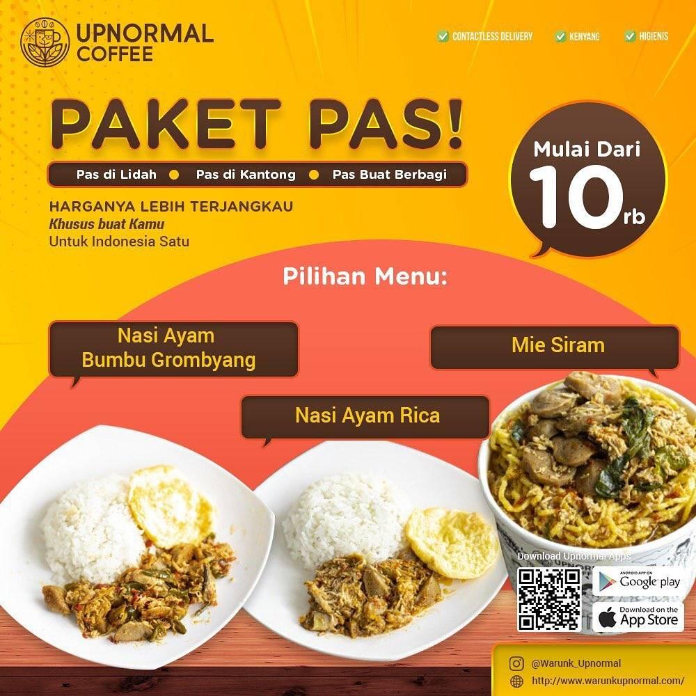 Diskon Warunk Upnormal Promo Paket Pas Dengan Harga Mulai Dari Rp. 10.000