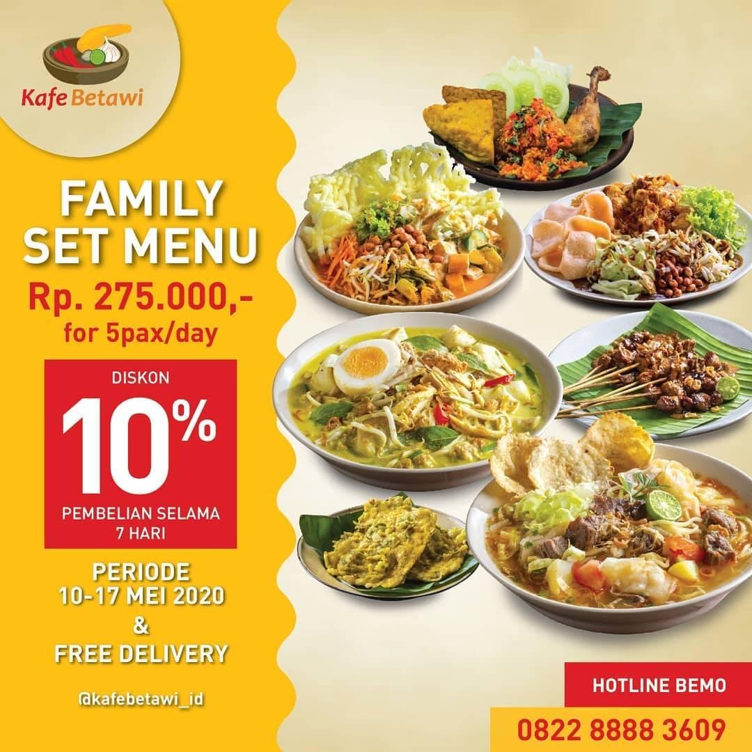 Diskon Kafe Betawi Promo Weekly Menu Set Untuk Porsi 5 Orang Dengan Harga Rp. 275.000/Hari