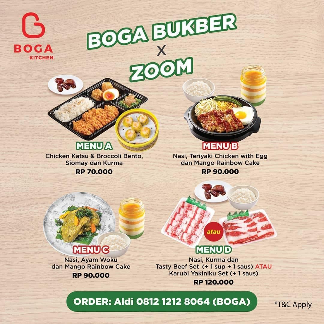 Diskon Boga Kitchen Promo Boga x Zoom Dapatkan Menu Favorit Dengan Harga Mulai Dari Rp. 70.000