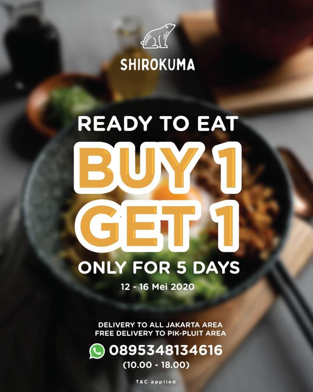 Diskon Shirokuma Promo Buy 1 Get 1 Free Ready To Eat Meals