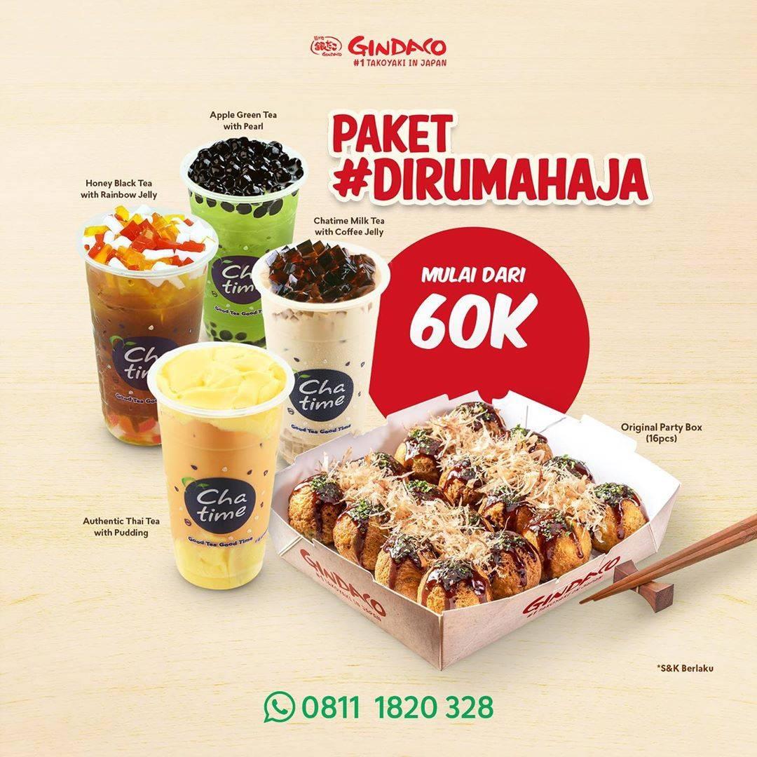 Diskon Gindaco Promo Paket Di Rumah Aja Dengan Harga Mulai Dari Rp. 60.000