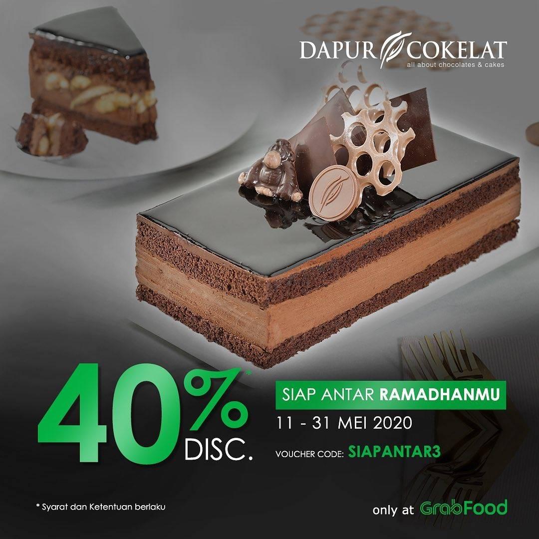 Diskon Dapur Cokelat Promo Diskon 40% Untuk Pemesanan Produk Melalui Aplikasi GrabFood