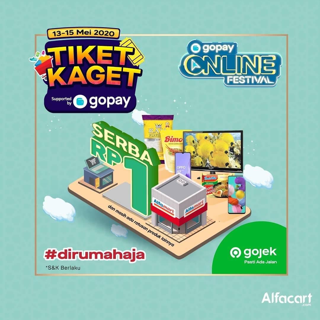 Diskon Alfacart Promo Tiket Kaget Belanja Apapun Cuma Rp. 1 Dengan Transaksi Menggunakan GoPay