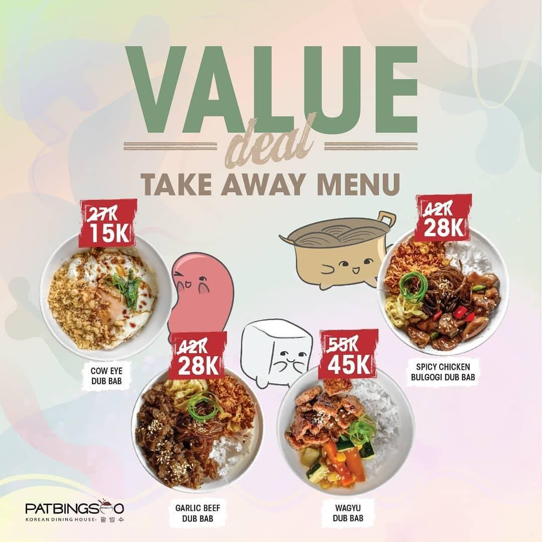 Diskon Patbingsoo Promo Value Deal Take Away Menu Start From IDR 15.000