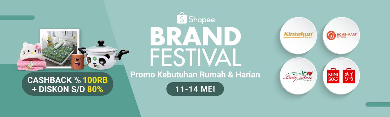 Diskon Shopee Promo Brand Festival Kebutuhan Rumah & Harian