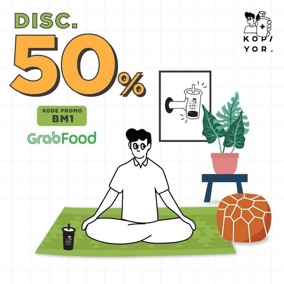 Diskon Kopi Yor Promo Diskon 50% Untuk Pemesanan Minuman Melalui GrabFood