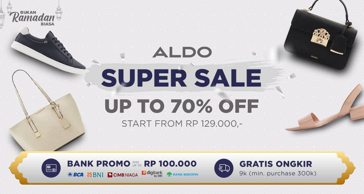 Diskon iLotte Promo Super Sale Up To 70% Untuk Produk Fashion Dari Brand Aldo