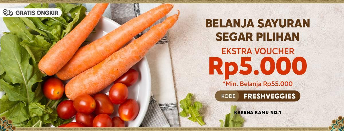 Diskon Blibli Promo Belanja Sayuran Segar Pilihan Dapatkan Ekstra Voucher Rp. 5.000